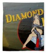 Diamond Lil B-24 Bomber Fleece Blanket