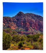 Diamondback Gulch Near Sedona Arizona Viii Fleece Blanket