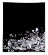Diamonds On Black Background Fleece Blanket