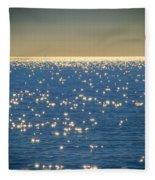 Diamonds On The Ocean Fleece Blanket