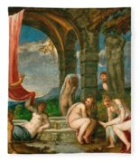 Diana And Actaeon Fleece Blanket