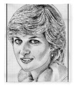 Diana - Princess Of Wales In 1981 Fleece Blanket