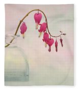 Dicentra In A Glass Vase 2 Fleece Blanket