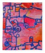 Dichotomy  Original Abstract Oil Painting By Regina Valluzzi Fleece Blanket