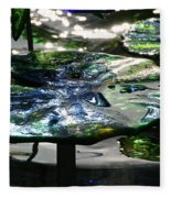 Dichromic Lily Pad Fleece Blanket
