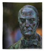 Diego Fernando Montanes Alvarez Statue Cadiz Spain Fleece Blanket