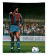 Diego Maradona Fleece Blanket