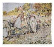 Digging Potatoes Fleece Blanket