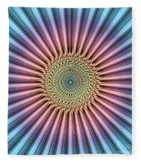 Digital Mandala Flower Fleece Blanket