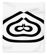 Digital Mono 12 Fleece Blanket