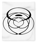 Digital Mono 6 Fleece Blanket