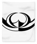 Digital Mono 8 Fleece Blanket