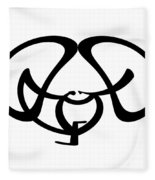 Digital Mono 9 Fleece Blanket