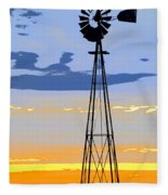 Digital Windmill-vertical Fleece Blanket