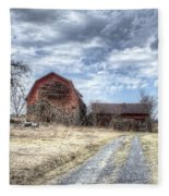 Dilapidated Barn Fleece Blanket