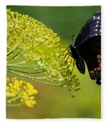 Dill And The Butterfly Fleece Blanket