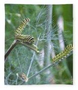 Dillweed And Caterpillars Fleece Blanket