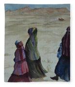 Dineh Leaving The Trading Post Fleece Blanket
