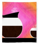 Diner Coffee Pot And Cup Sorbet Fleece Blanket