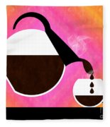 Diner Coffee Pot And Cup Sorbet Pouring Fleece Blanket