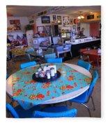Diner On Route 66 Fleece Blanket