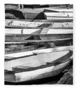 Dinghies - Perkins Cove Maine Fleece Blanket