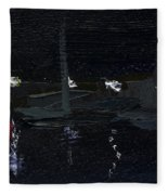Dingle Quay By Night Detail 5 On The Wild Atlantic Way Of Western Ireland Fleece Blanket