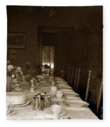 Dining Room Table Circa 1900 Fleece Blanket