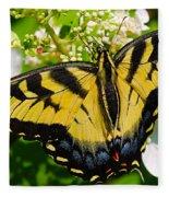 Dinner For The Swallowtail Fleece Blanket
