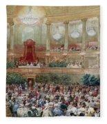 Dinner In The Salle Des Spectacles At Versailles Fleece Blanket