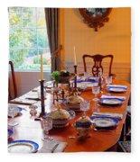 Dinner Table Fleece Blanket