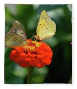 Dinner Table For Two Butterflies Fleece Blanket