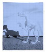 Dino Cyan Fleece Blanket