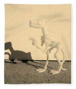 Dino Sepia Fleece Blanket