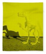 Dino Yellow Fleece Blanket