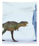 Dinosaur Aucasaurus Fleece Blanket