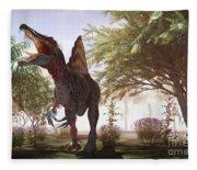Dinosaur Spinosaurus Fleece Blanket
