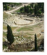 Dionysus Amphitheater Fleece Blanket