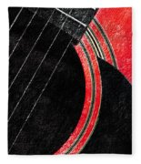 Diptych Wall Art - Macro - Red Section 2 Of 2 - Giants Colors Music - Abstract Fleece Blanket