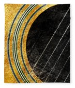 Diptych Wall Art - Macro - Gold Section 1 Of 2 - Vikings Colors - Music - Abstract Fleece Blanket