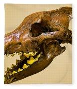 Dire Wolf Skull Fossil Fleece Blanket
