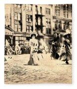 Directoire Gown - Philadelphia Mummers 1909 Fleece Blanket