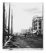 Downtown Dirt Spokane C. 1895 Fleece Blanket