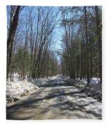 Dirt Road In March Fleece Blanket