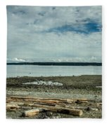 Low Tide Along The Discovery Passage Fleece Blanket