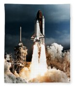 Discovery Hubble Launch Sts-31 Fleece Blanket