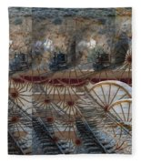Discovery Of The Wheel Fleece Blanket
