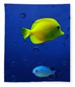 Discus Fish Fleece Blanket