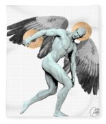 Discus Thrower Angel Fleece Blanket
