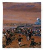 Disembarkation - Kerch, 24 May 1855 Fleece Blanket